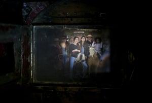 A family having their portrait