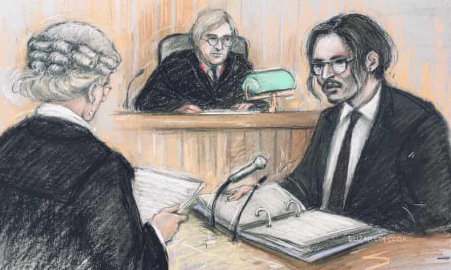 Court sketch of Depp