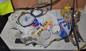 Explosives found at Rashad's home.