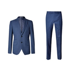 Blue blazer and trousers from Marks and Spencer