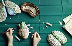 human organs made of Zurich city maps