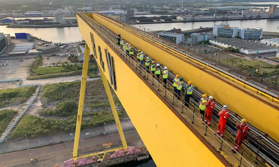 'Clapping for carers' at Harland & Wolff, Belfast, May 2020.