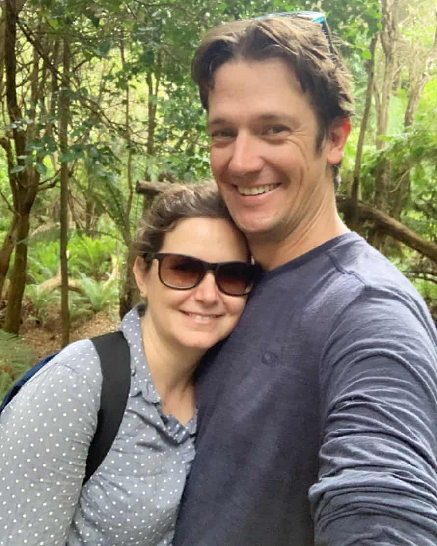 Victorians Pia Treichel and Edward Taylor were stranded following the state's abrupt lockdown on NSW the border