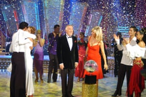 Bruce Forsyth and Tess Daly host a final of Strictly Come Dancing in 2004
