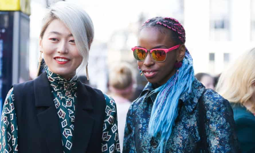 Street style on the opening day of London fashion week