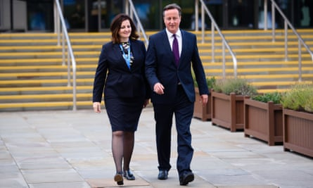 David Cameron  with Caroline Ansell, MP for Eastbourne and Willingdon