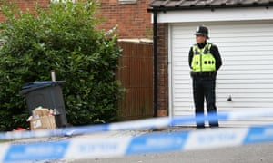 Police on Thursday at the scene of the incident in Frankley, Birmingham.