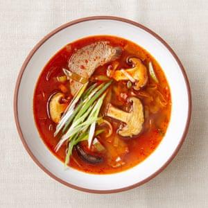 Jordan Bourke and Rejino Pyo's spicy beef and vegetable stew.