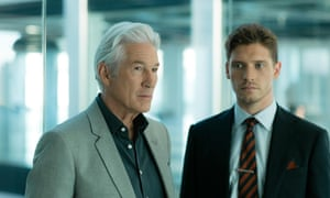 Richard Gere as the media mogul Max with Billy Howle as Caden in BBC Two's MotherFatherSon.
