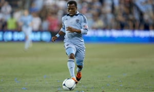 Korede Aiyegbusi playing for Sporting Kansas City in 2012, since when the London-born full-back's career has taken some interesting turns.