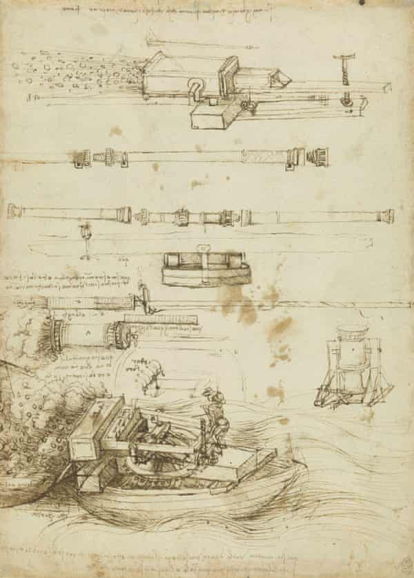 Designs for gun-barrels and mortars