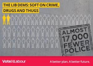Labour poster slammed by drug reform campaigners.