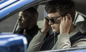 'A neo-retro pile-up of sharp poses': Ansel Elgort and Jamie Foxx in Baby Driver