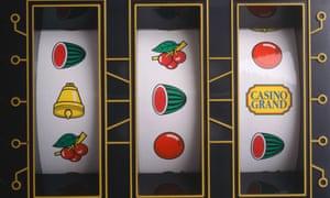 Slot machine showing losing combination