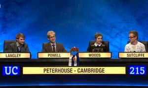 A lightning campaign … Peterhouse, Cambridge in the 2016 final.