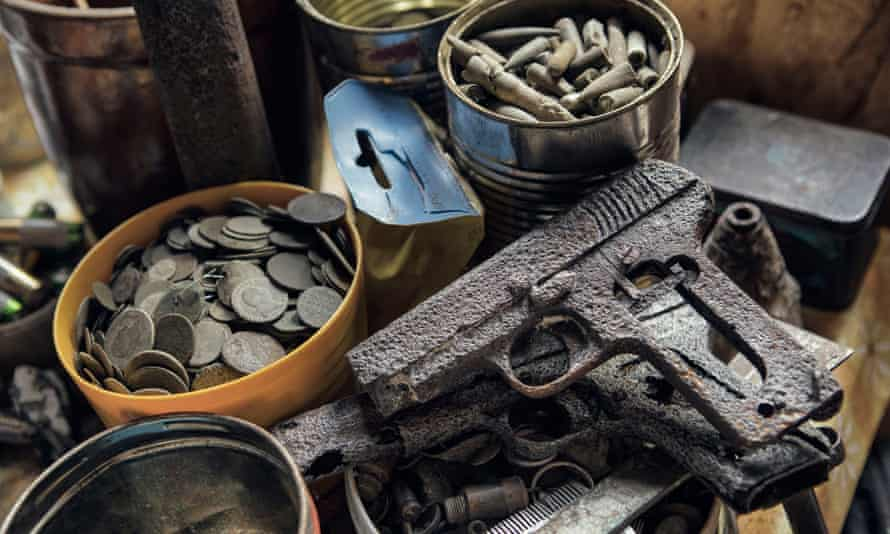 Lost and found: guns, coins and bullet shells found by the 'Masovian Guardians of History' while metal detecting.
