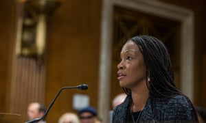 Aurelia Skipwith testifies during a Senate committee confirmation hearing in Washington DC, on 11 September.