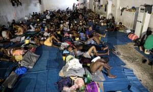 A Libyan refugee camp