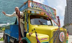 Jeff Bezos on a truck