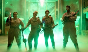 Cold call ... Ghostbusters, with Leslie Jones far right