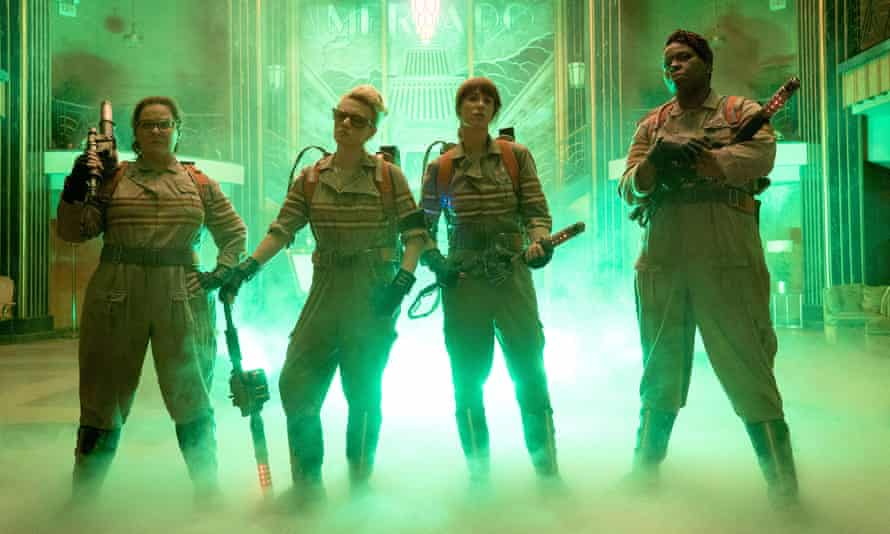 Ghostbusters star Leslie Jones, pictured on the right, was subject to racist and sexist abuse online.