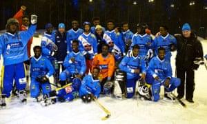 The Somali bandy team of Borlänge, Sweden.