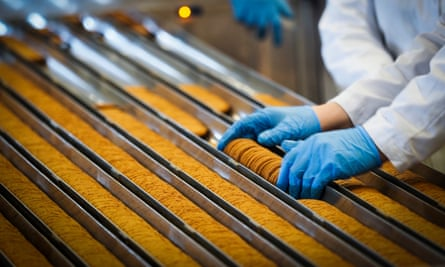 Biscuit production line.