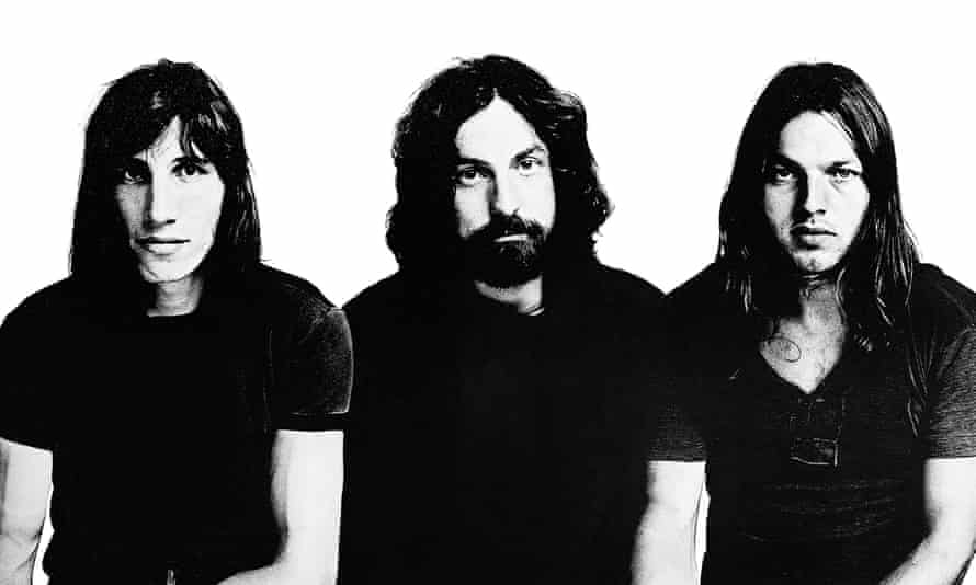 Pink Floyd … Roger Waters, Nick Mason and David Gilnour in the 1970s.