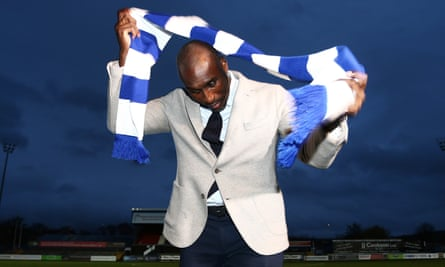 Sol Campbell, pictured at his unveiling as Macclesfield's manager in November 2018.