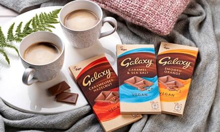 Galaxy's range of vegan bars.