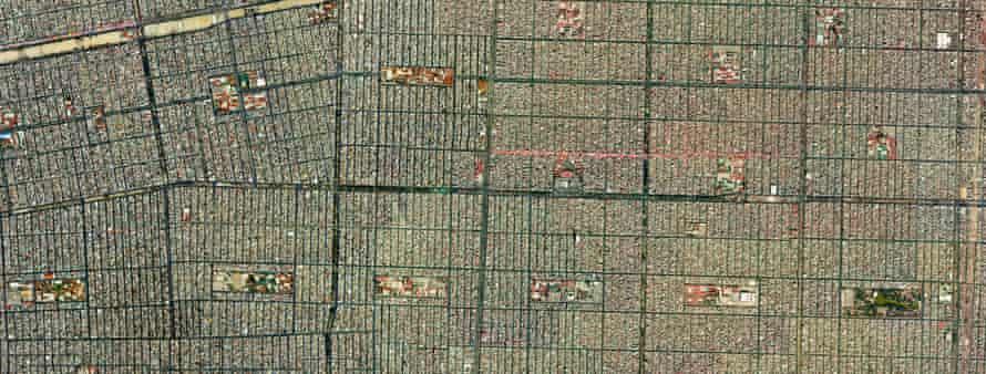 The outlying suburb Ciudad Nezahualcoyotl.