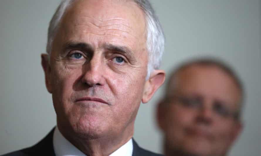 Malcolm Turnbull and Treasurer Scott Morrison