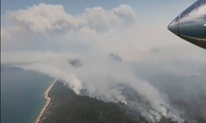 The bushfire in central Queensland threatening homes in Deepwater and Baffle Creek