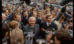 Mikhail Gorbachev during a visit to the DDR.