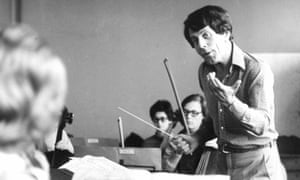 Raymond Leppard conducting at a rehearsal in the mid-1970s.