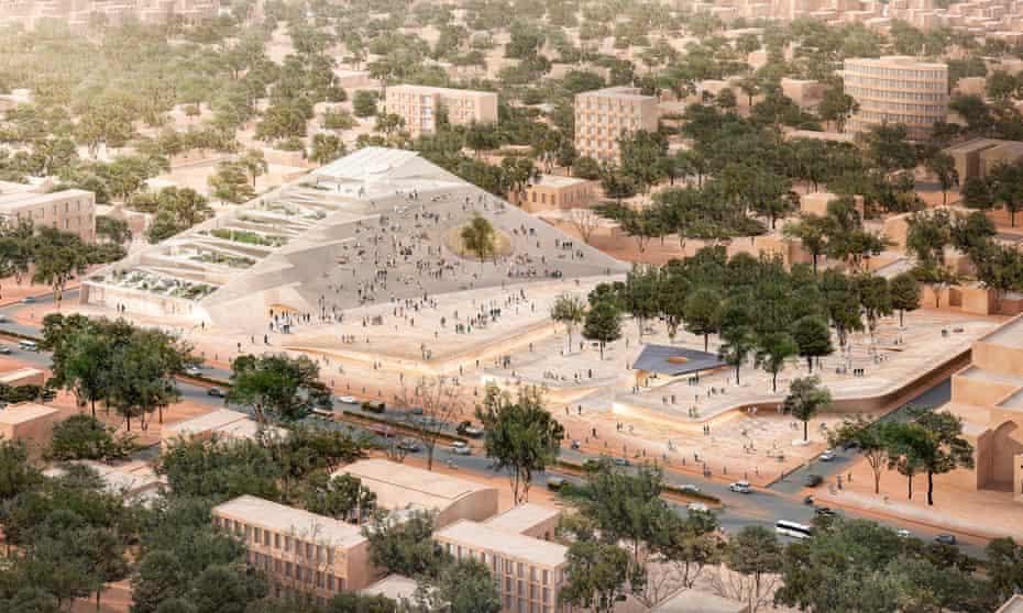 Kéré's proposed Burkina Faso National Assembly and Memorial park.