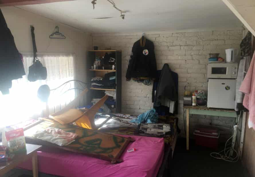 Garage accommodation in Otara, south Auckland, New Zealand.