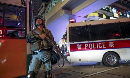 Police officer in Hong Kong