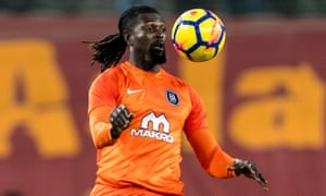 Emmanuel Adebayor is among the former Premier League players who have helped Başakşehir to challenge for the title.