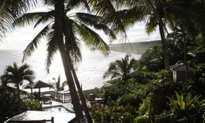 A resort in Niue. The family's catamaran ran aground on Beveridge Reef, about 240km from Niue.