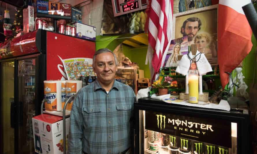 Rodolfo Villarreal inside his store.