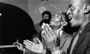 Joe Watkins, right, and George Lewis, photographed at Ken Colyer's jazz club by Terry Cryer in 1957