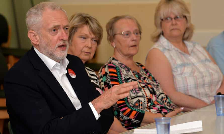 Jeremy Corbyn made his comments after speaking at a campaign event at Age UK in Lincoln.