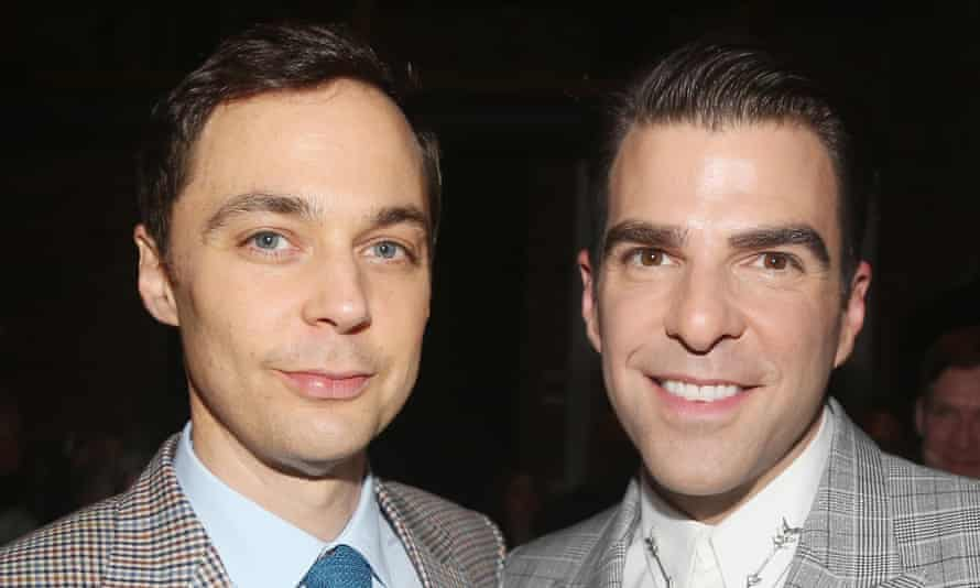 Jim Parsons and Zachary Quinto at a 50th-anniversary celebration of The Boys in the Band