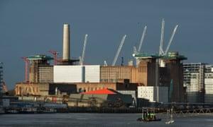 The Battersea power station development in London