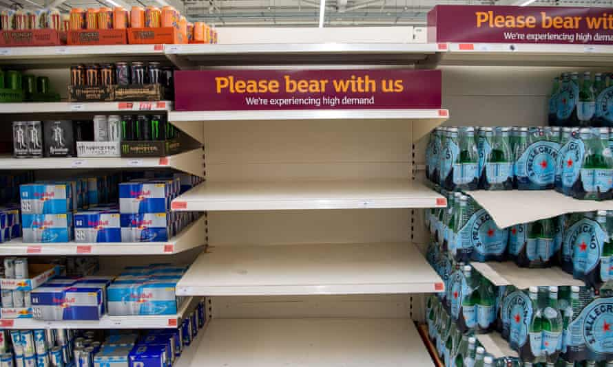 Supermarkets have sometimes struggled to fill the shelves due to HGV lorry driver shortages.