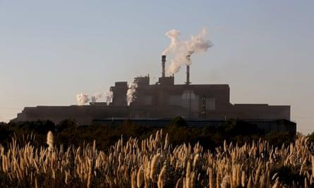 The ArcelorMittal steel plant near Marseille