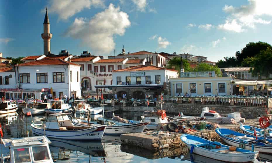 Scenic view of Bozcaada Harbor Canakkale Turkey