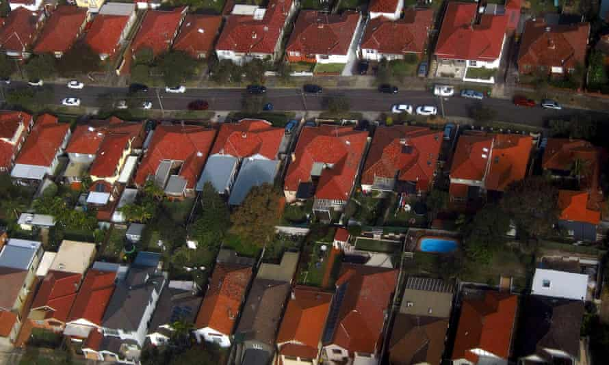 Aerial view of homes in the Sydney suburb of Clovelly
