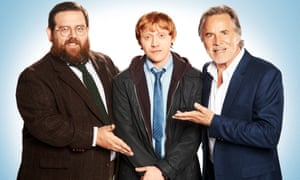 Nick Frost, Rupert Grint and Don Johnson in Sick Note